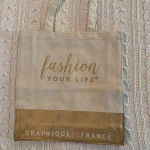 Gold Fashion Your Life Graphique de France Canvas